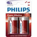 PILAS POWER ALKALINE D PHILIPS