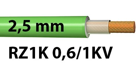 Cable RZ1K 0.6/1KV Sección 2,5 mm